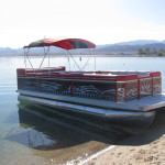 Tribal Pontoon Boat